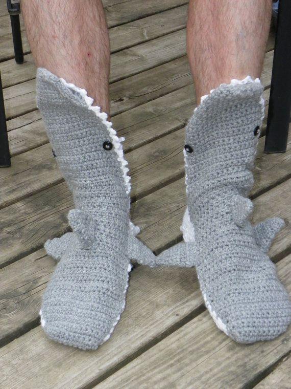Crochet Shark Slipper d4ad8e2228