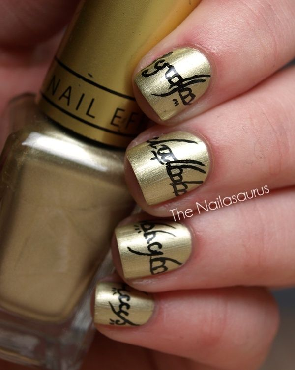 Lord of the Rings nails...really cool...but ain\'t nobody got time ...