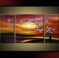 Multiple Piece Canvas Paintings Are A Lovely Way To Decorate A Large Wall,  For Less