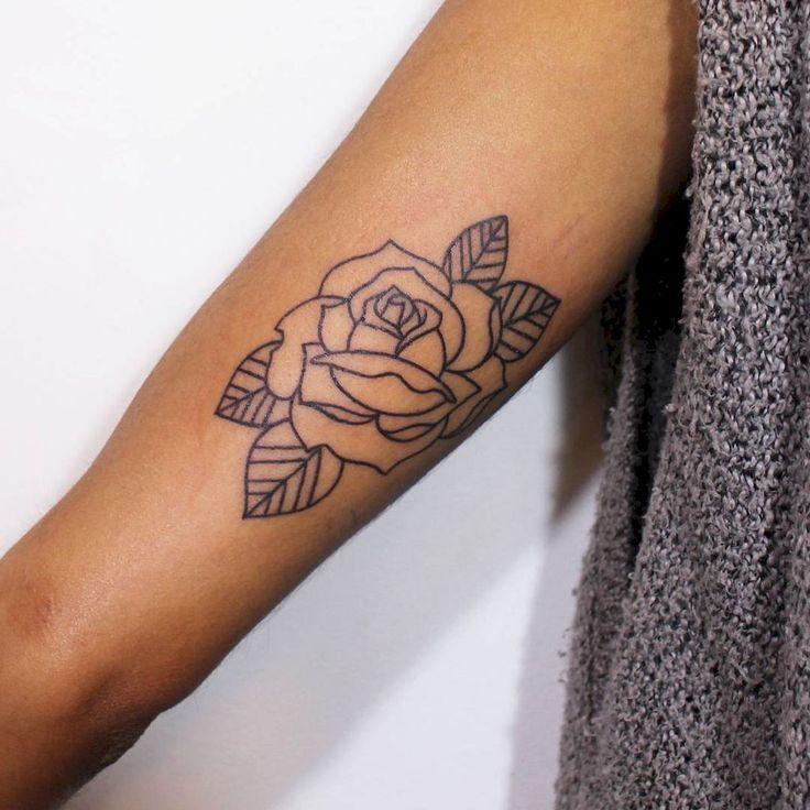 30 Traditional Rose Outline Tattoo Designs Ideas - Pinterestzone
