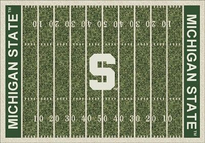 Michigan State Spartans Home Field Area Rug Ncaa Court
