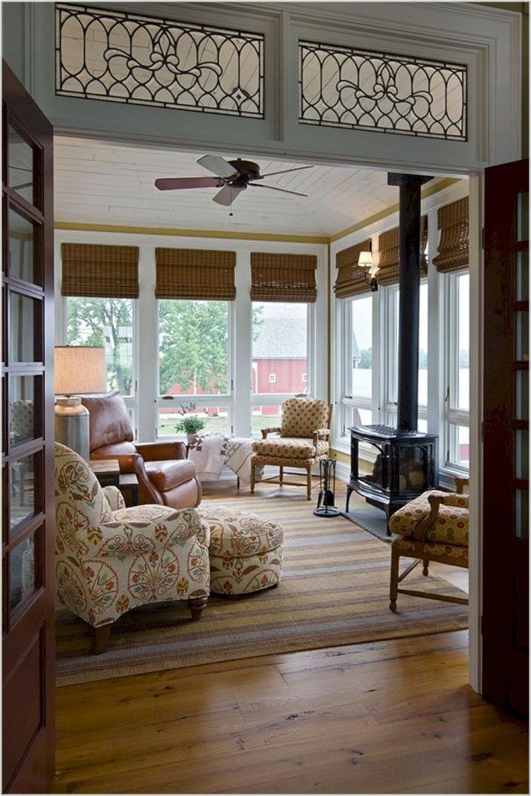 Awesome Farmhouse Sun Room Design Ideas Sunroom Designs