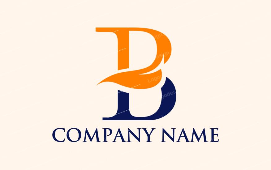 Leafy B Logo Lettering Letter B Logo Templates
