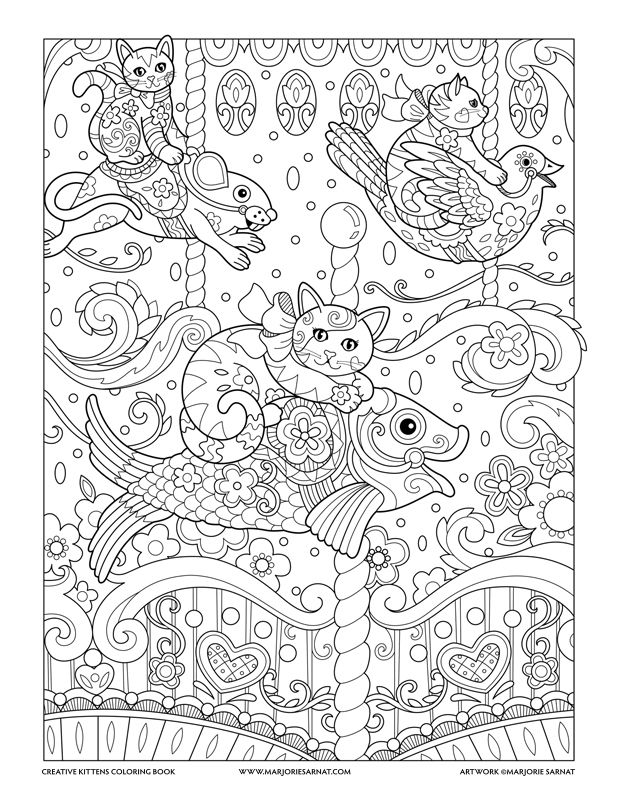 Carousel Andrea Papel Coloring Pages Coloring Books Y Adult