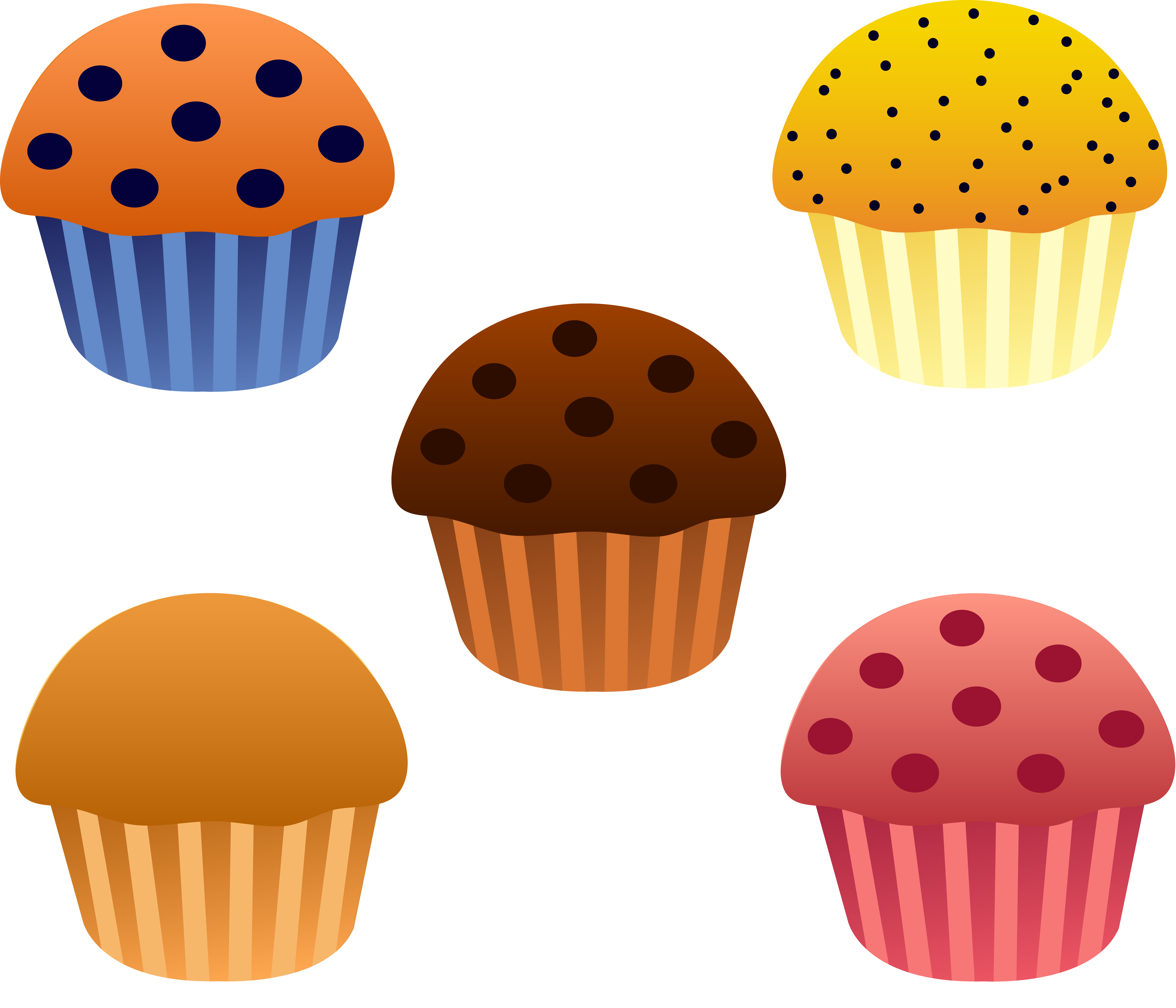 Plate of muffins clipart - ClipartFest | Food | Pinterest
