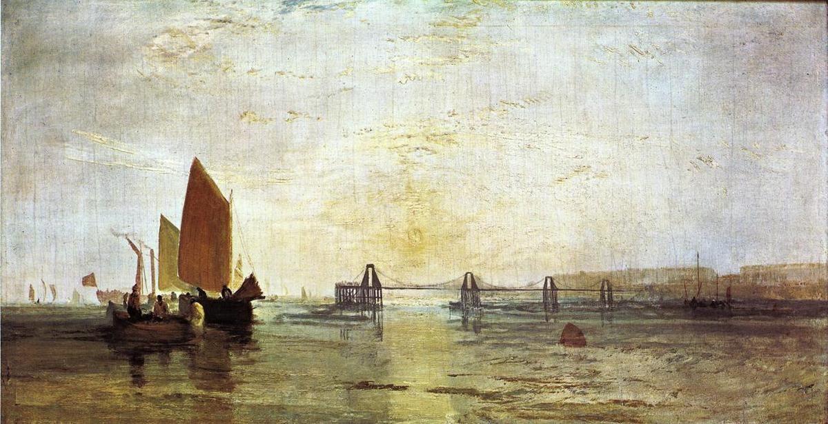 William Turner, The Chain Pier, Brighton by (1789-1862),