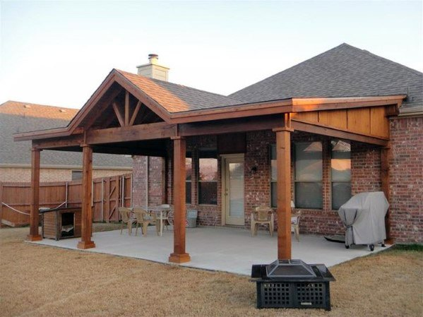 Top 60 Patio Roof Ideas Covered Shelter Designs Rustic Patio Backyard Porch Covered Patio Design