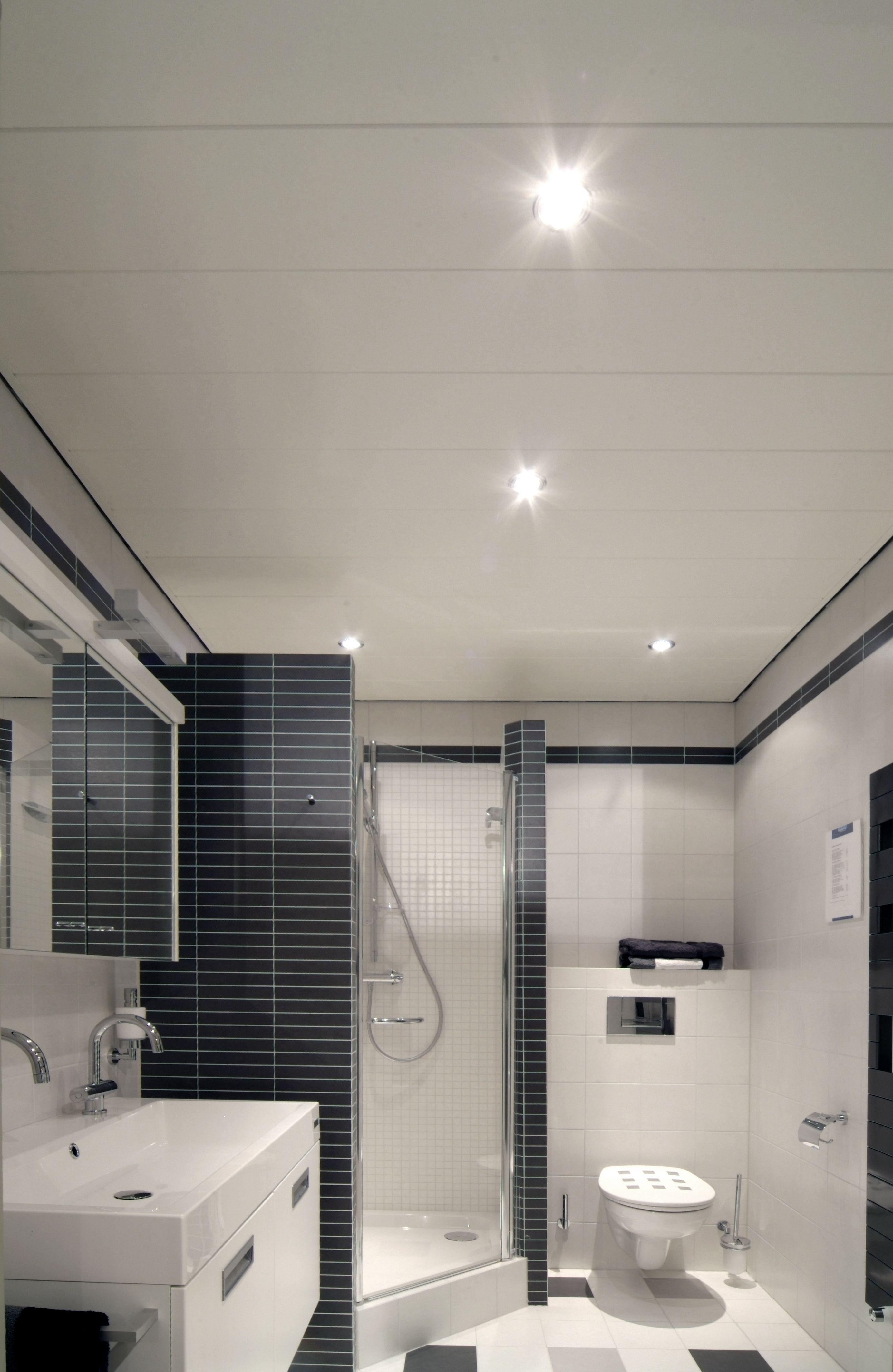 luxalon plafond i badkamer i aluminium plafond plafonds. Black Bedroom Furniture Sets. Home Design Ideas