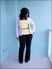 Curves and Confidence | Inspiring Curvy Women One Outfit At A Time: Black and Yellow