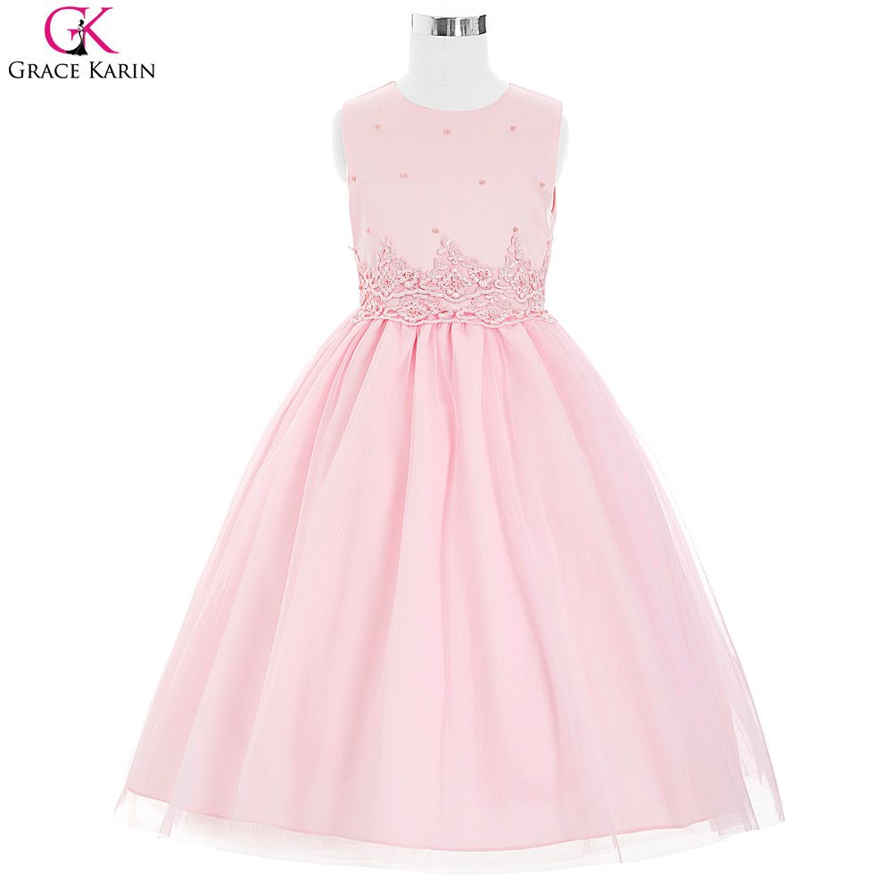 Ivory pink flower girl dresses for wedding grace karin pageant cheap flower girl dresses buy directly from china supplierslight pink flower girl dresses for weddings applique pearl princess ivory communion dresses mightylinksfo Choice Image