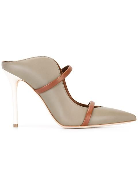 MALONE SOULIERS Designer Shoes, Penelope Optic Nappa Leather Pumps