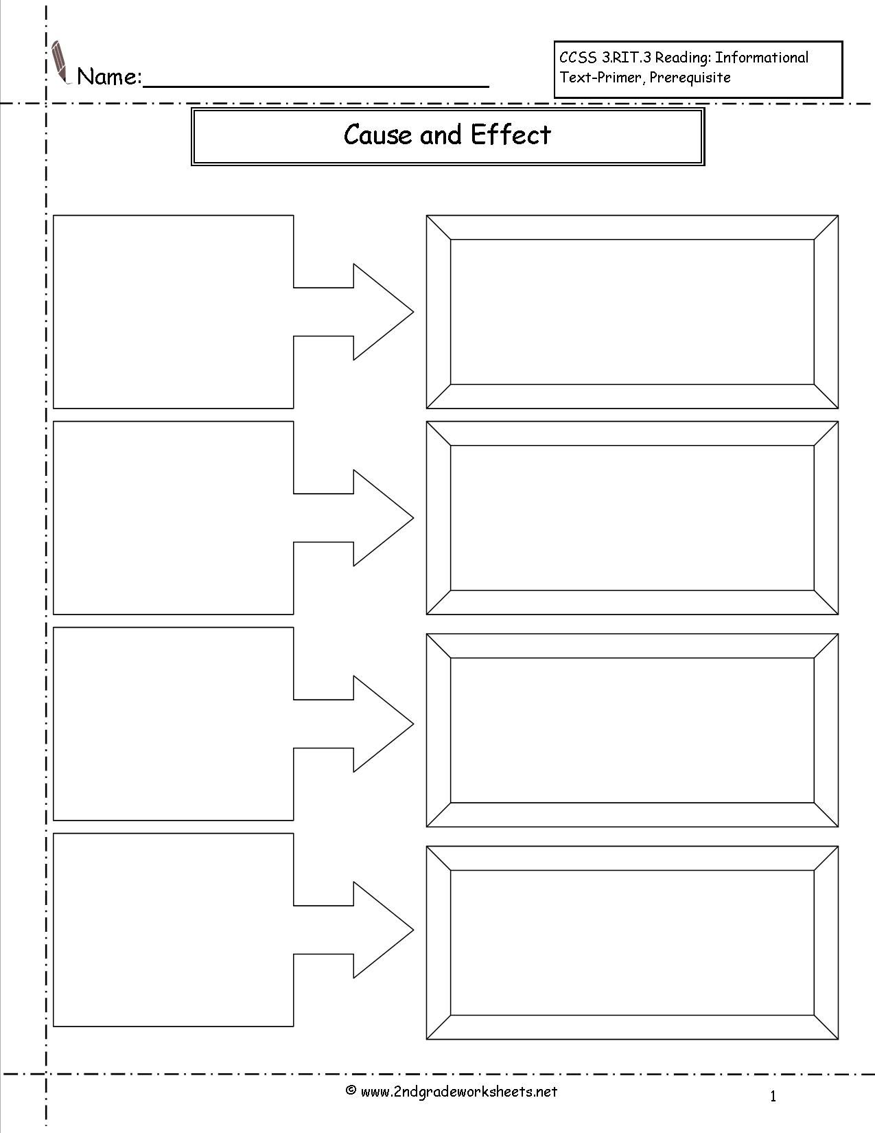 cause and effect worksheet - Google Search | Reading | Pinterest ...