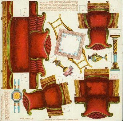 Recortables para ni os muebles recortables salita de - Objetos decorativos salon ...
