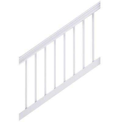 Best Enclave 6 Ft X 3 Ft White Capped Composite Stair Rail 640 x 480