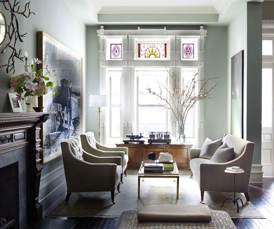 The Living Room Music Brooklyn: Brownstone Living Room Classic Modern Design.