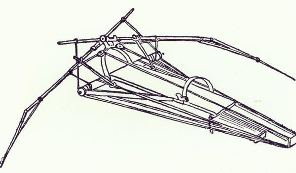 One Of Leonardo Da Vinci's Designs For An Ornithopter, Copy Of A Diagram From Manuscript B, 1488-89 Giclee Print Poster by Leonardo Da Vinci Online On Sale at Wall Art Store – Posters-Print.com