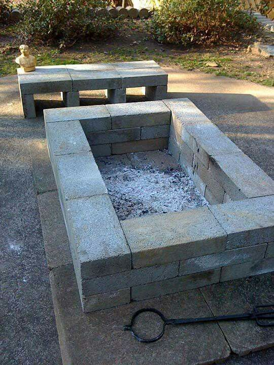 cinder block fire pit diy cinder block fire pit grill ... on Cinder Block Fireplace Diy  id=46516