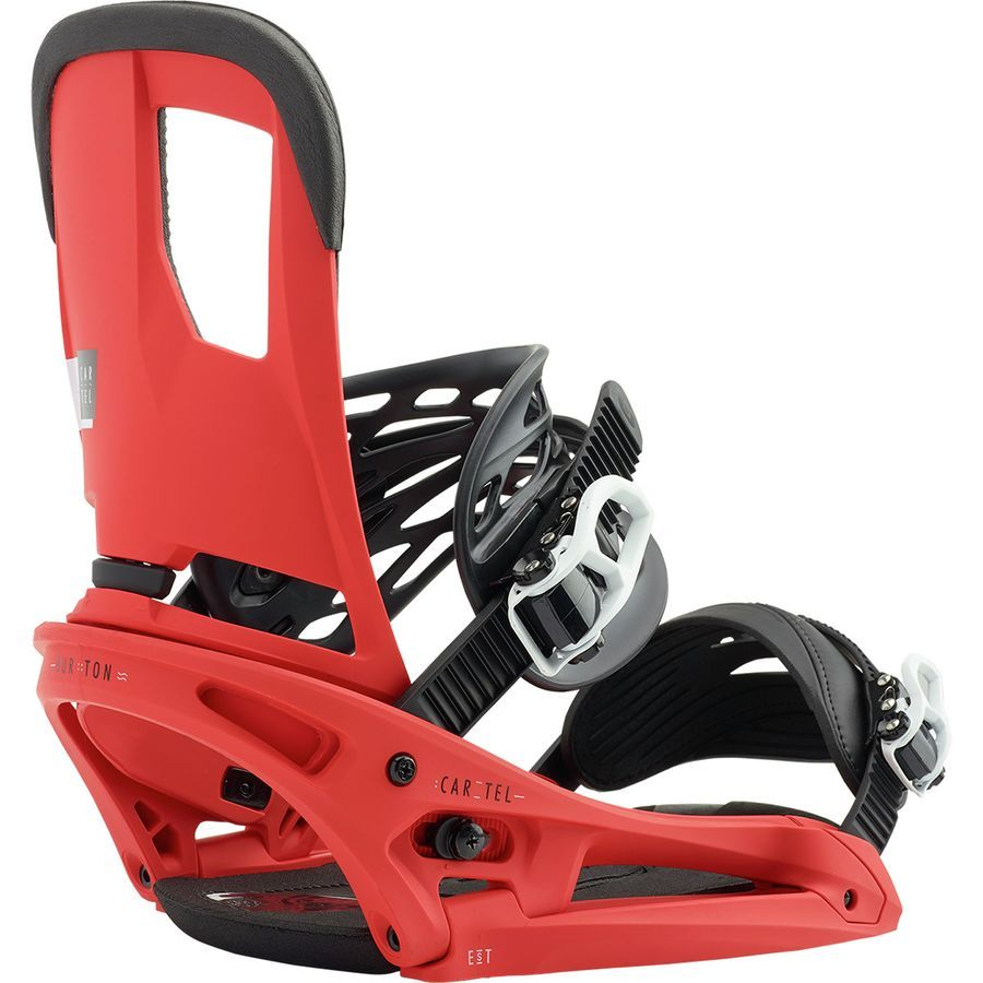Burton cartel est snowboard binding red snowboard