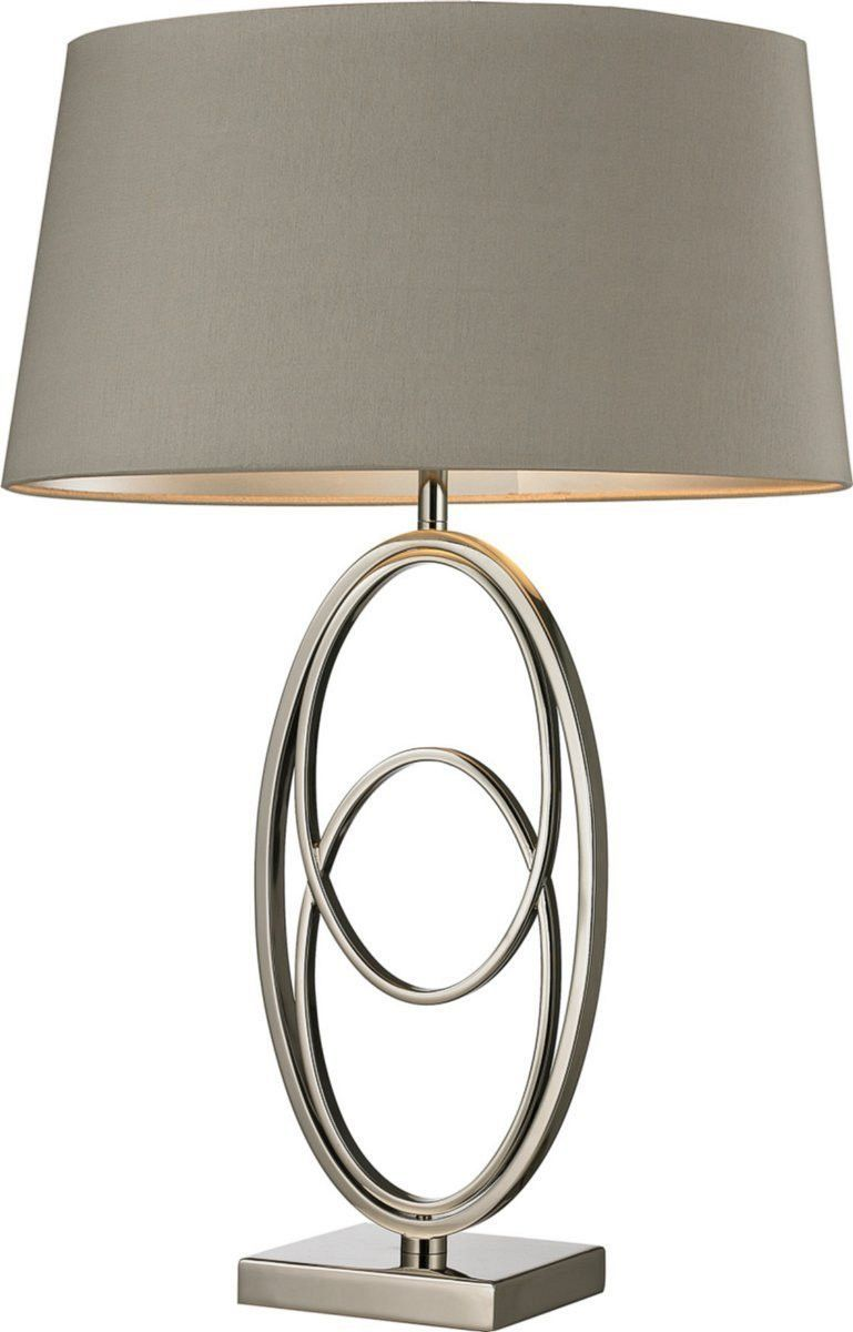 0 026716 Hanoverville 1 Light 3 Way Table Lamp Polished Nickel