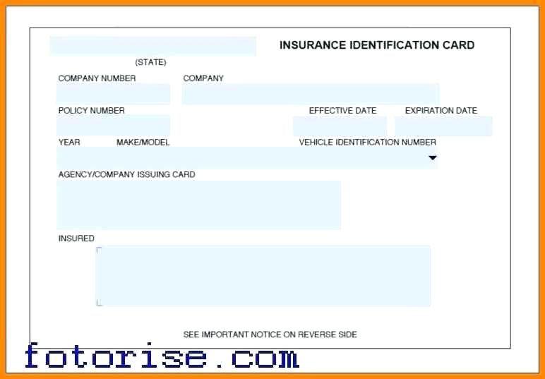 Auto Insurance Card Template Progressive Id Cards Car Free Progressive Car Insurance Car Insurance Shocking Facts