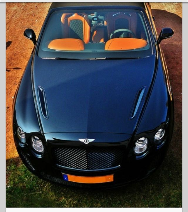 A Bentley Convertible In Navy - Yes Please.
