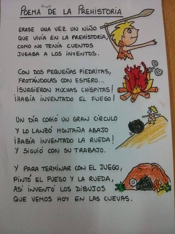 Un Poema Para Recordar Los Inventos De La Prehistoria La Prehistoria Para Niños Prehistoria Primaria Prehistoria