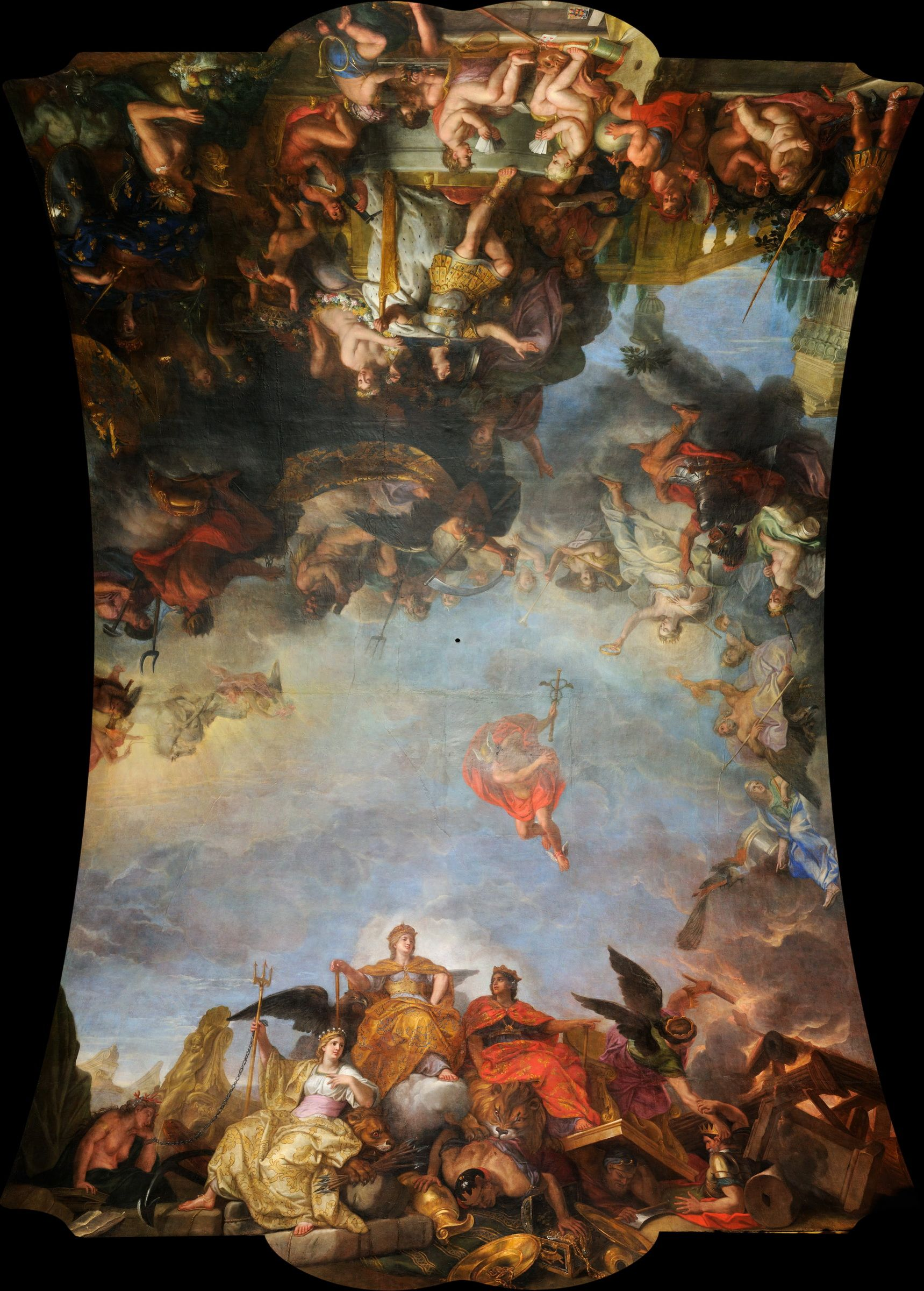 Charles le Brun, The King Governs Alone, 1679-1684, Hall of Mirrors, Versaille