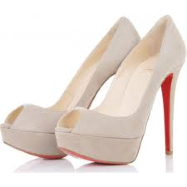 I love these Christian Louboutin white pumps!!