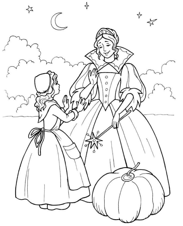 Imaginative Fairy Tale Coloring Page | Fairy coloring pages, Fairy ... | 963x781