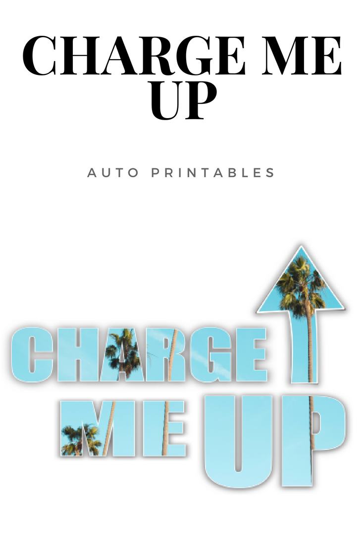 Charge Me Up Printable Poster With Palm Trees Within Text