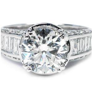 Diamantringe weißgold  3.50 Karat Diamantring 750er Weißgold | Diamantringe | Pinterest
