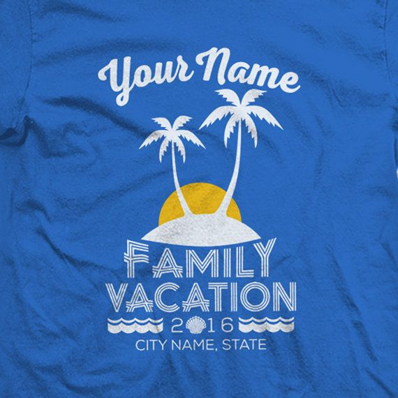 5ae8eacea Custom Family Beach Vacation Shirts for 2019- Matching Colors and ...