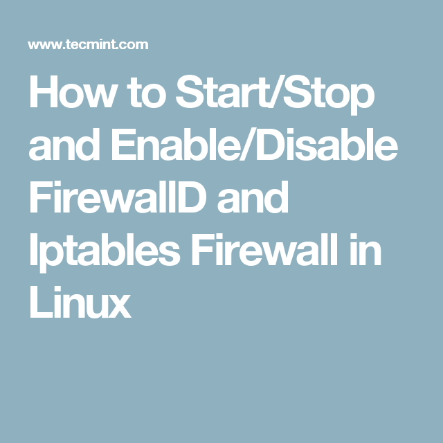 firewall disable linux