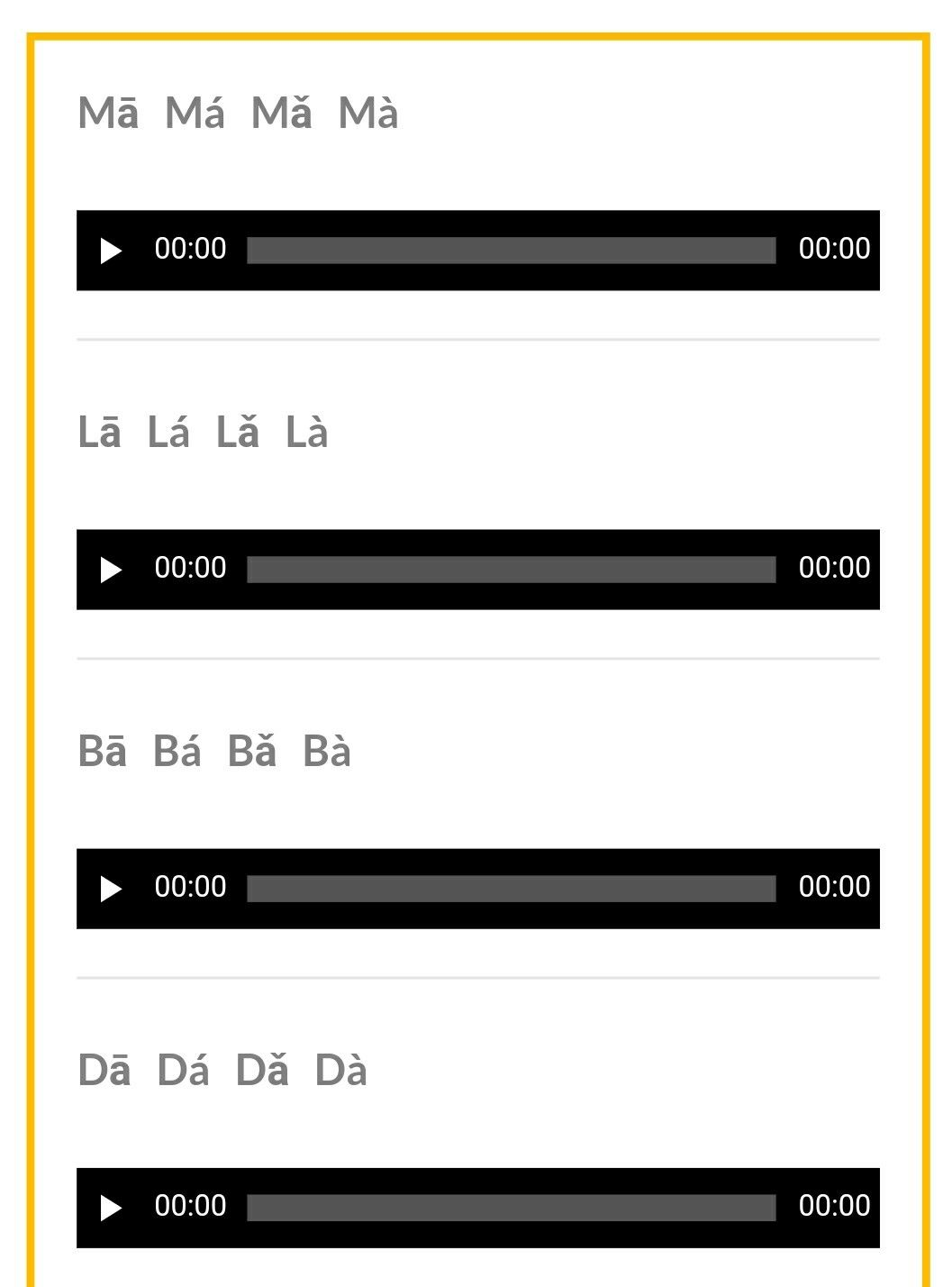 Chinese Tones Practice Pinyin Pronunciation Audio 4 Tones