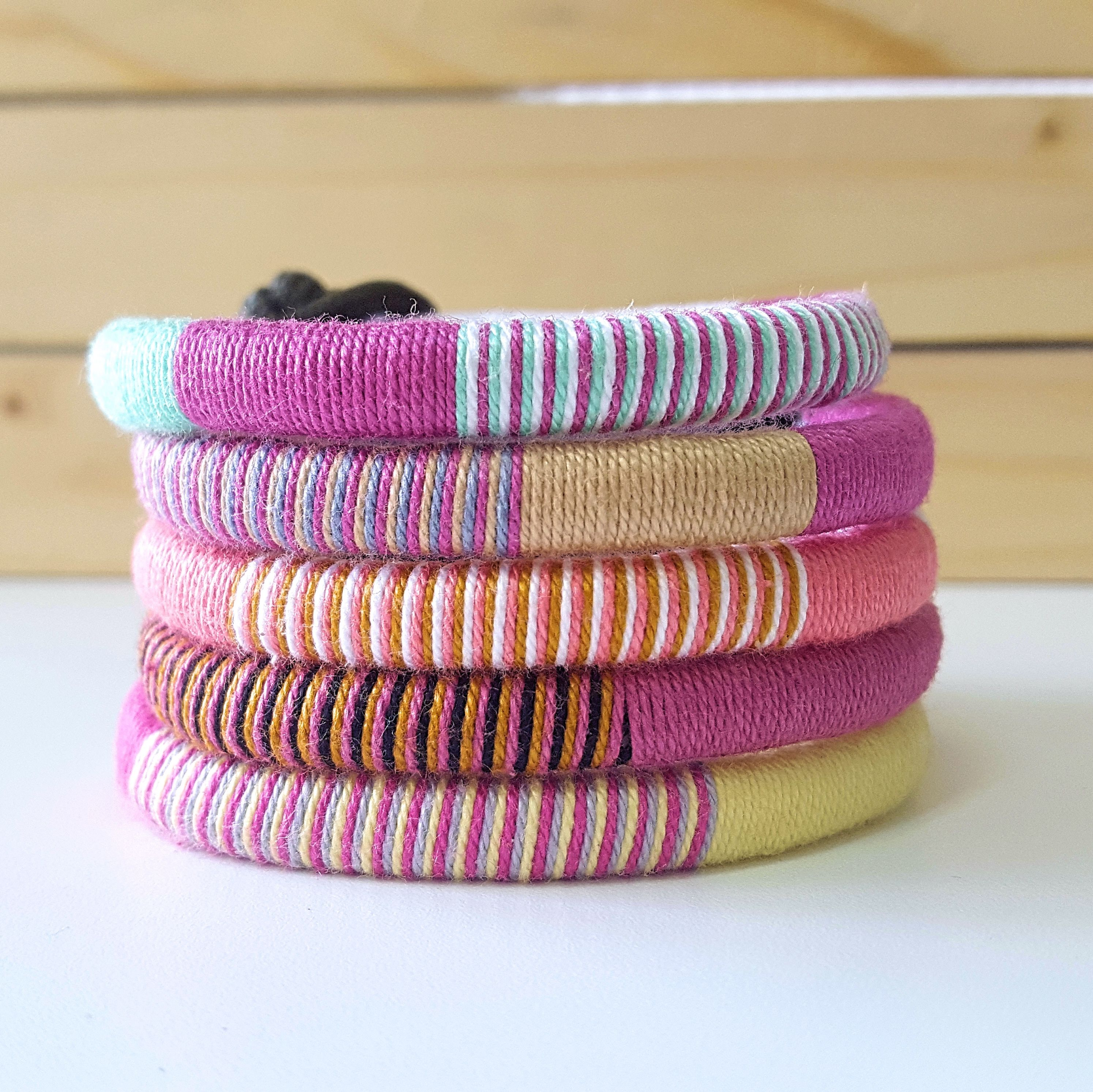 These pink thread hippie bracelets are perfect for your casual spring outfits. They are lightweight and easy to wear and will surely bring a pop of color to your OOTD this spring season. It could also be perfect for your summer outfits.