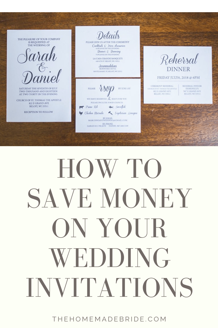 How to save money on your wedding invitations the homemade bride