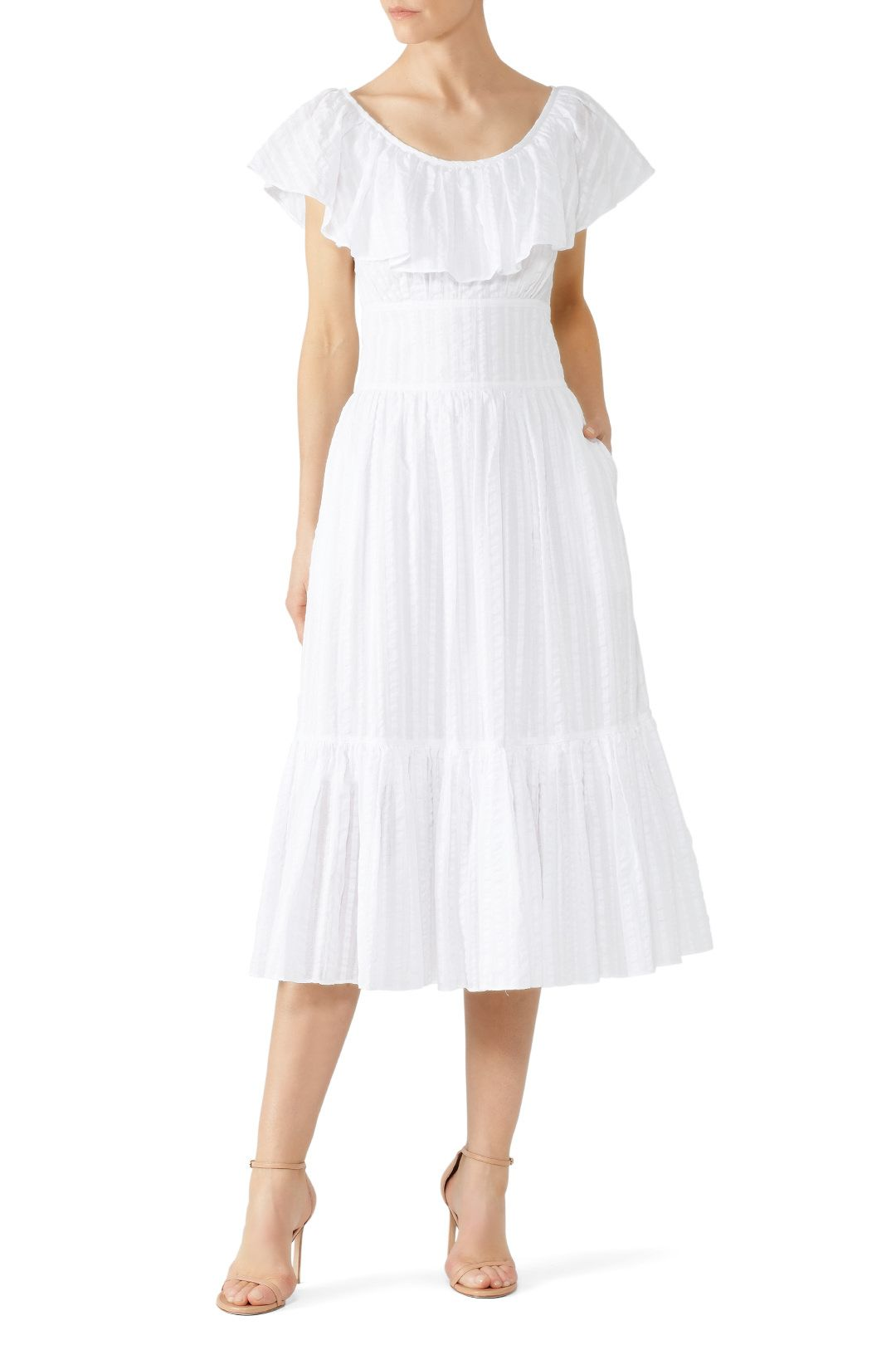 25862375f Rent Striped Seersucker Dress by Tory Burch for $65 only at Rent the Runway.