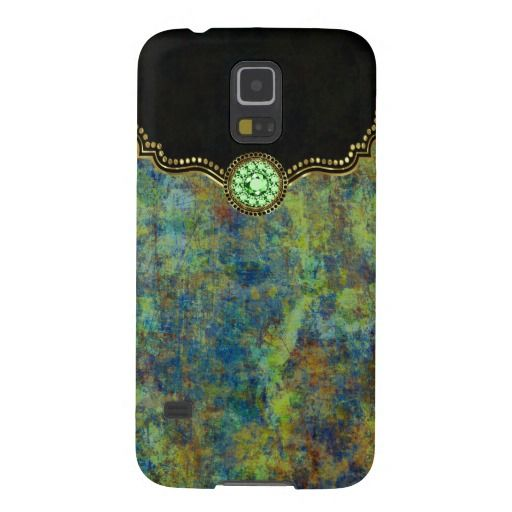 Colorful Grunge Elegant Gold Frame Cases For Galaxy S5