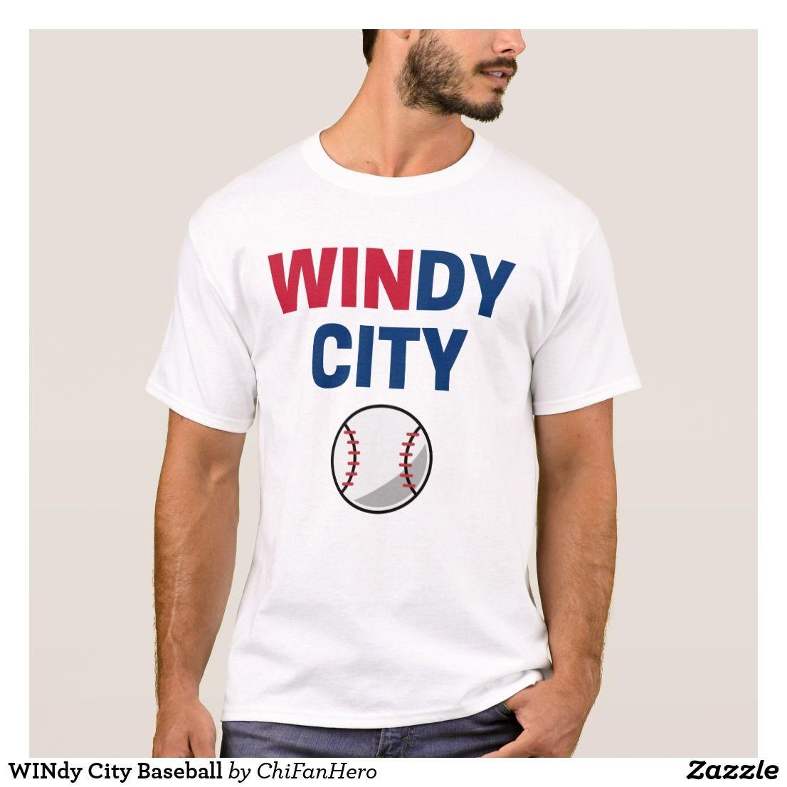 Windy City Baseball T Shirt Chicago Cubs Shirts Pinterest T