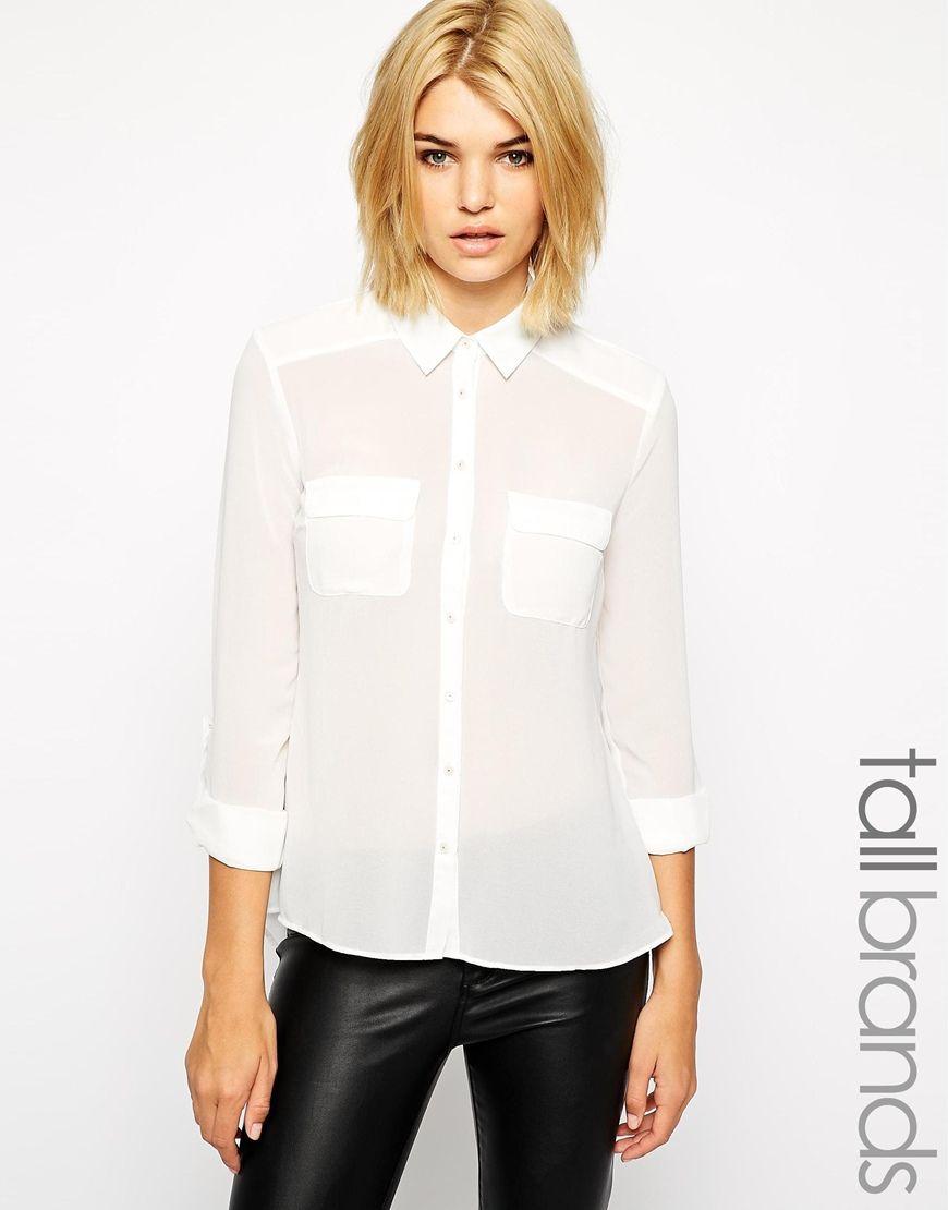 7fd83bf9 New Look Tall Long Sleeve Blouse | Ao so mi | Shirt blouses, Tall ...
