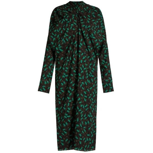 High-Neck Crepe Midi Dress Marni vrHuhzu5