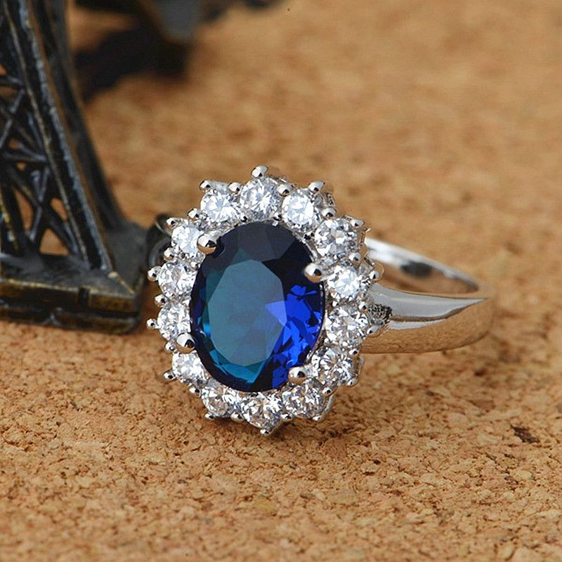 matching with bands medium halo dress ring blue of excelent design in rg her band nl and engagement him gold cheap baguette diamond cut sapphire set rose size wedding for cushion