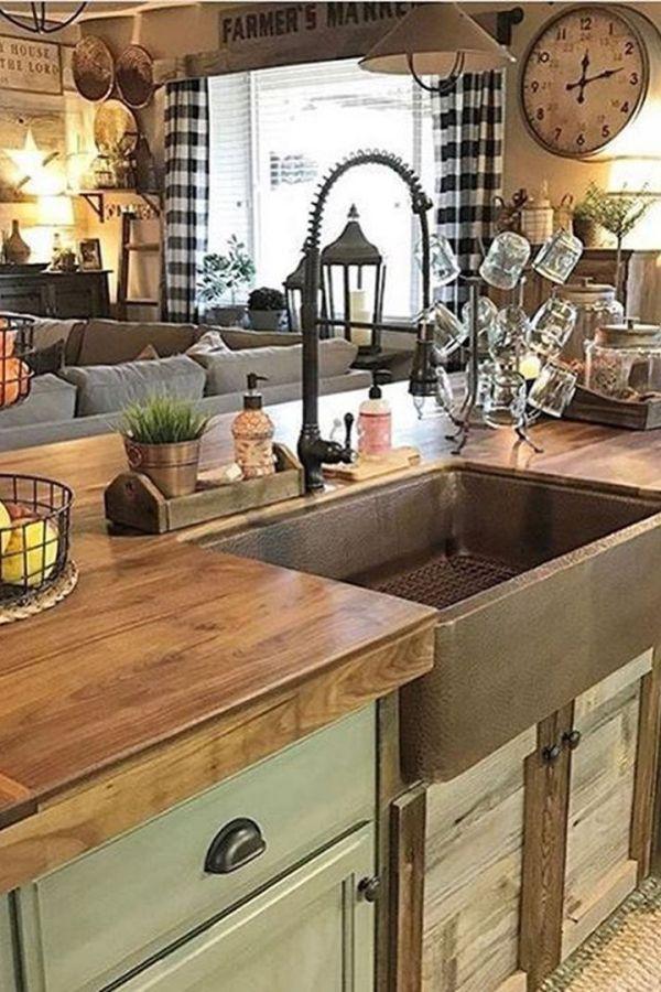 perfect rustic kitchen decorating ideas 13 rustic kitchen sinks farm style kitchen farm on kitchen sink ideas id=68930