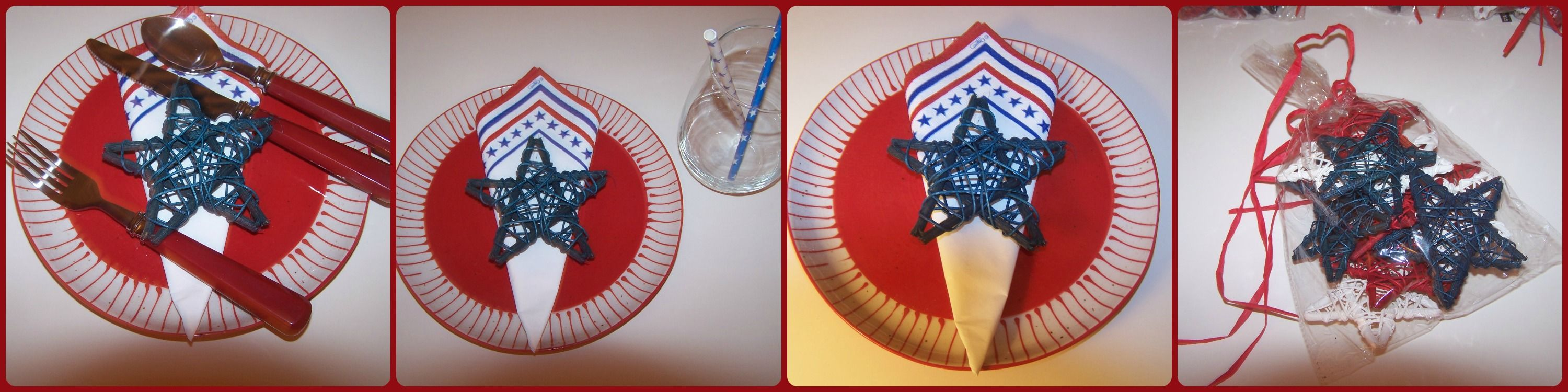 Ways to make it a Picture Perfect Tablescape with Mini Rattan Stars!   http://bakeitpictureperfect.com
