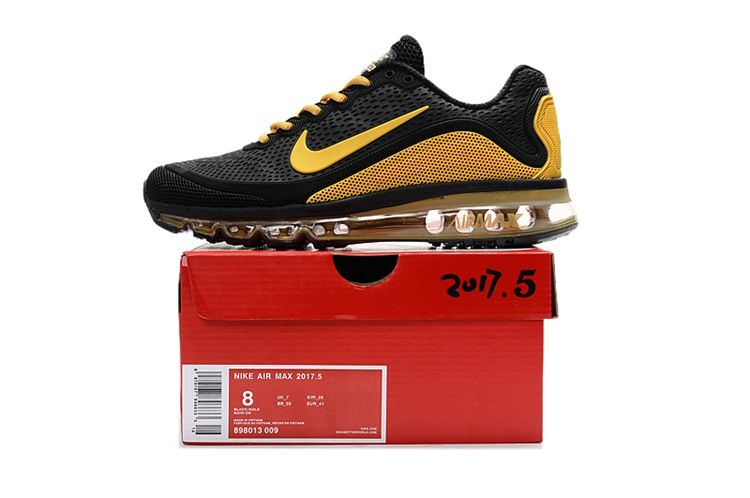 c7ee69f30e Nike Air Max 2017.5 Men Running Shoes Black Gold | Nike air max in ...