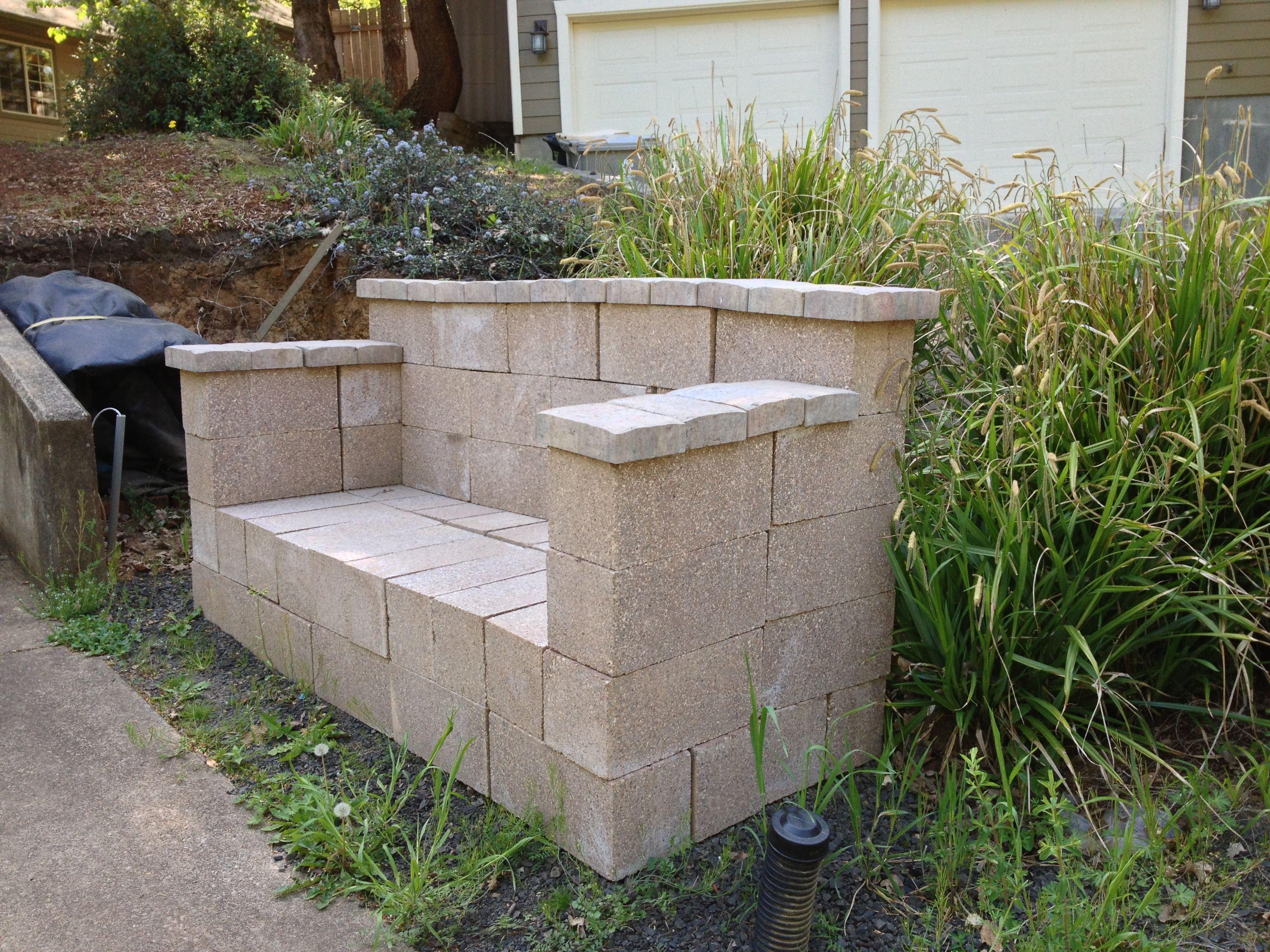 Cinder block bench home decor pinterest