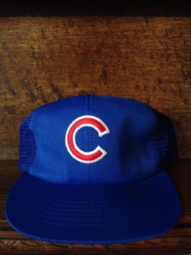 704ee649fff ... best chicago cubs vintage snapback trucker hat cap mlb chicagocubs  21670 bd36b