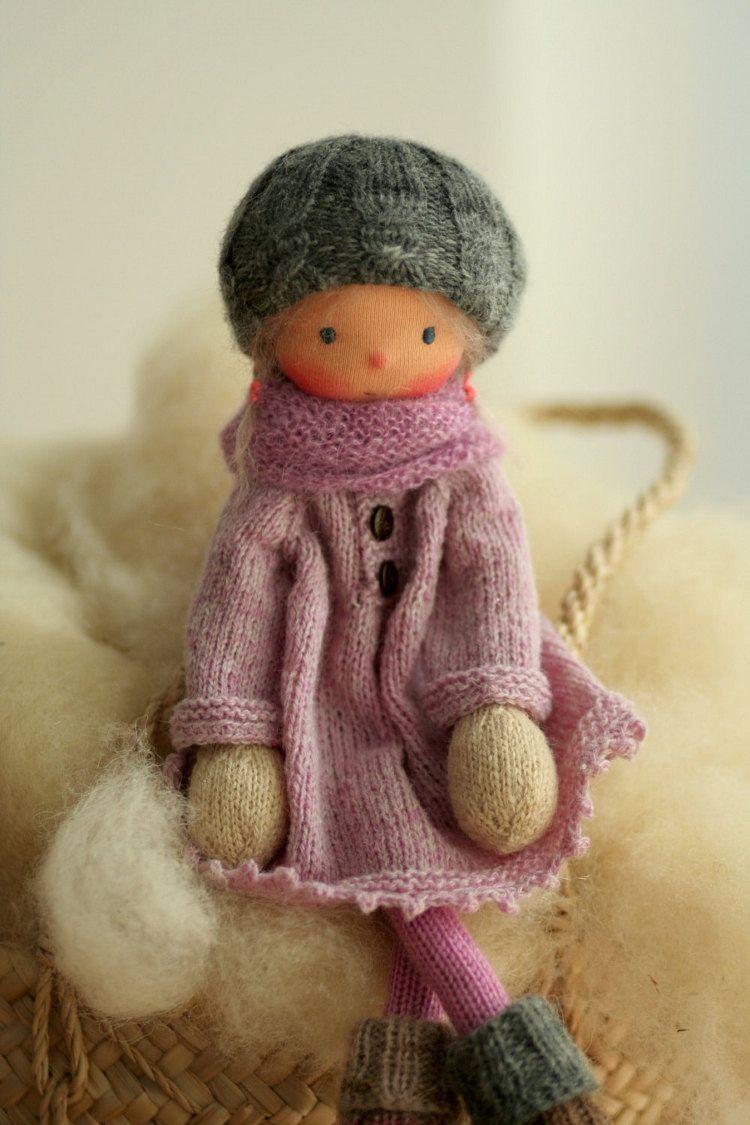 Waldorf doll Knitted doll Talya 14 rag by ...