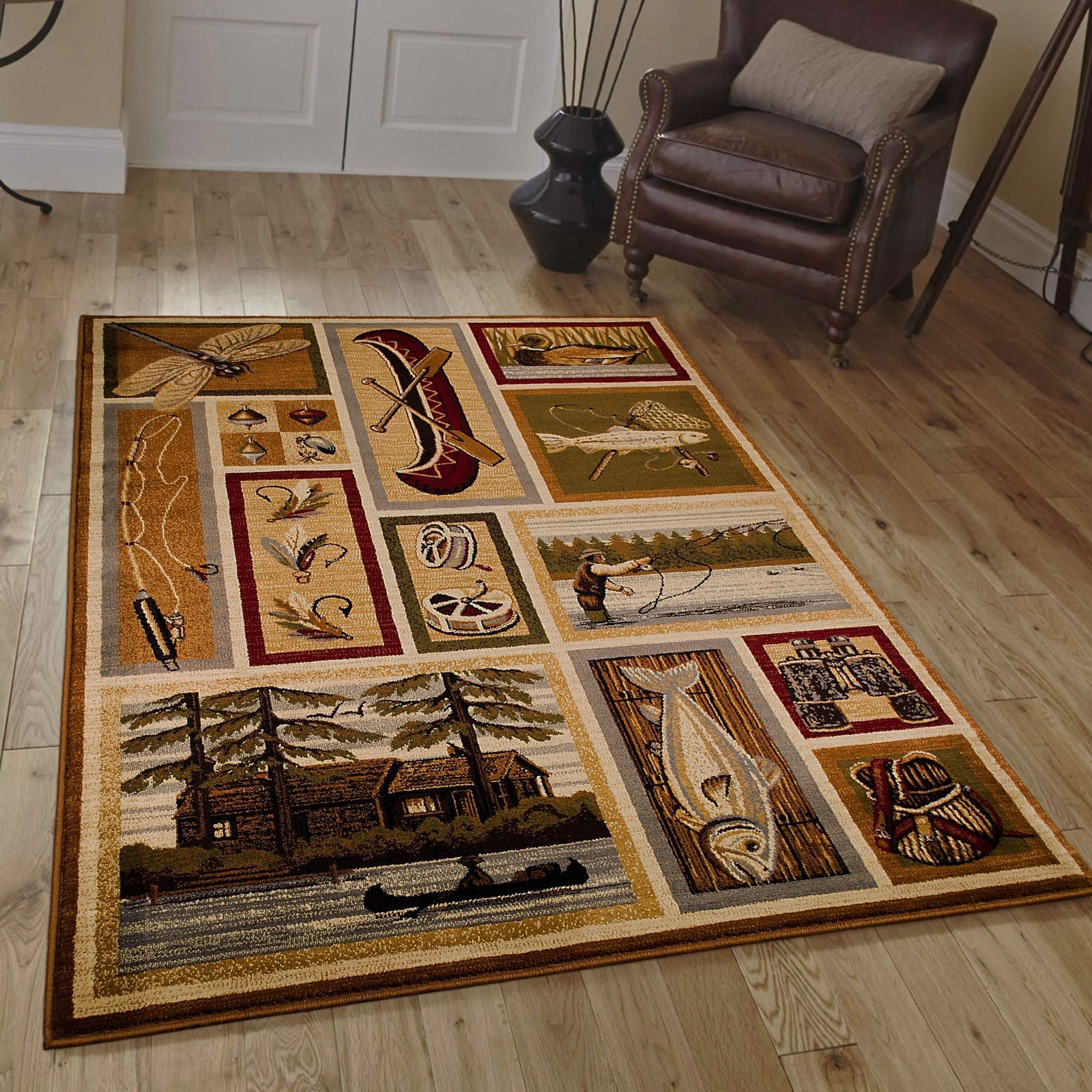 AllStar Rugs African Contours Collection Prints Area Rug