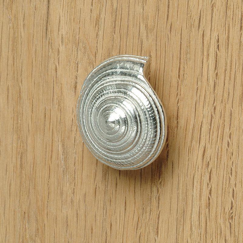 Shell bathroom cupboard handle spiral shell, pewter bathroom door ...
